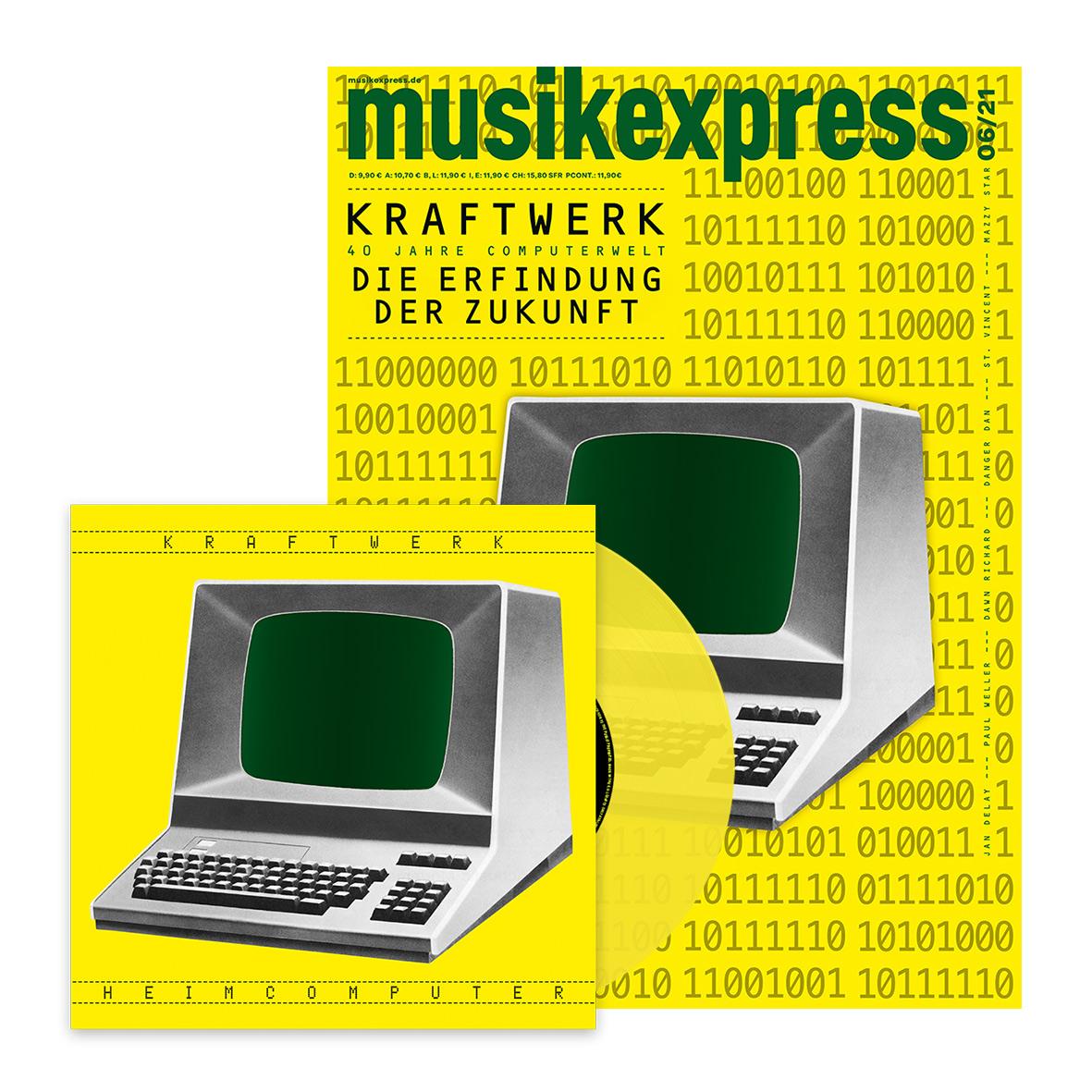 MusikExpress 'Heimcomputer' single and magazine covers